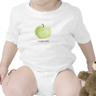 Camisa verde del niño de Apple