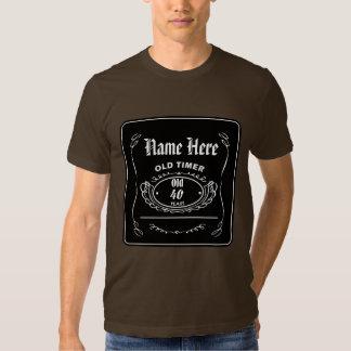 Camisa vieja adaptable de la etiqueta del whisky