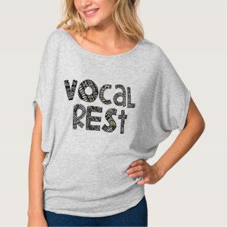 Camisa vocal modelada del círculo del resto de las