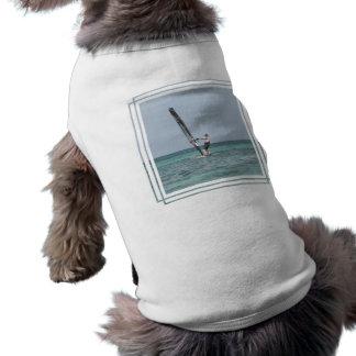 Camisa Windsurfing del perro de los fundamentos Playera Sin Mangas Para Perro