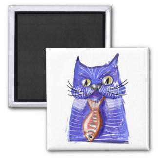 Camisa y gato del lazo imán para frigorífico