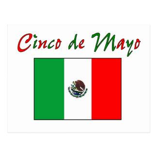 Camisa y regalos de la bandera mexicana de Cinco Tarjeta Postal