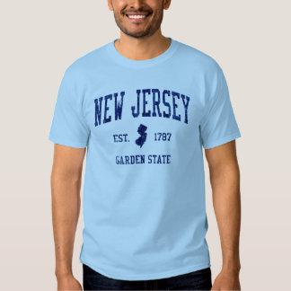 Camiseta 1787 del estado jardín de New Jersey Playeras