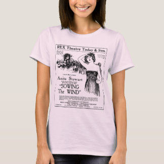 Camiseta 1921 del anuncio de la película del