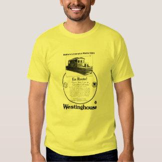 Camiseta 1923 de la locomotora de poleras