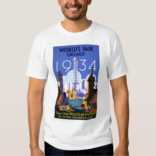 Camiseta 1934 de Chicago de la feria de mundos del Playeras