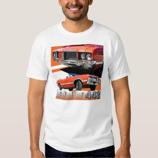 Camiseta 1970 del coche del machete 442 de remera