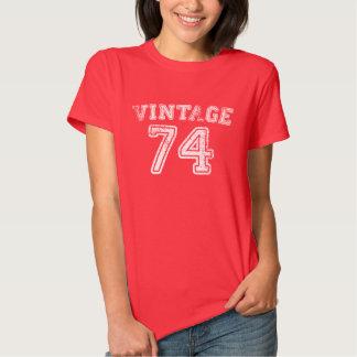 Camiseta 1974 del jersey del vintage