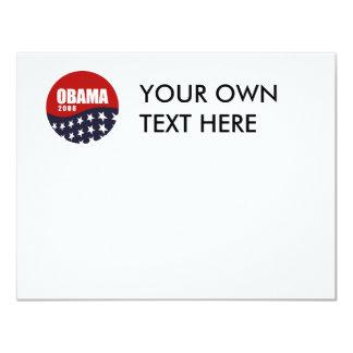 """Camiseta 2008 de Obama Invitación 4.25"""" X 5.5"""""""