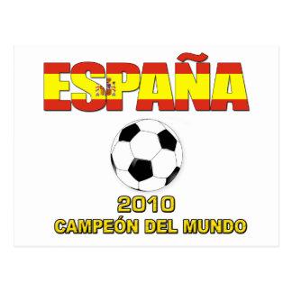 Camiseta 2010 de España Campeones del Mundo Postales