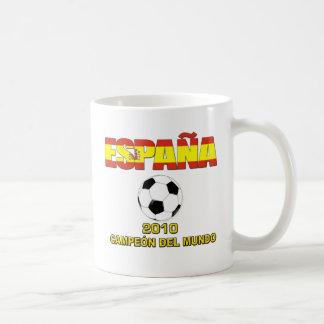 Camiseta 2010 de España Campeones del Mundo Tazas