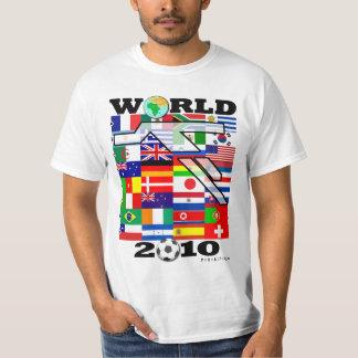 Camiseta 2010 del fútbol del globo del mundial poleras