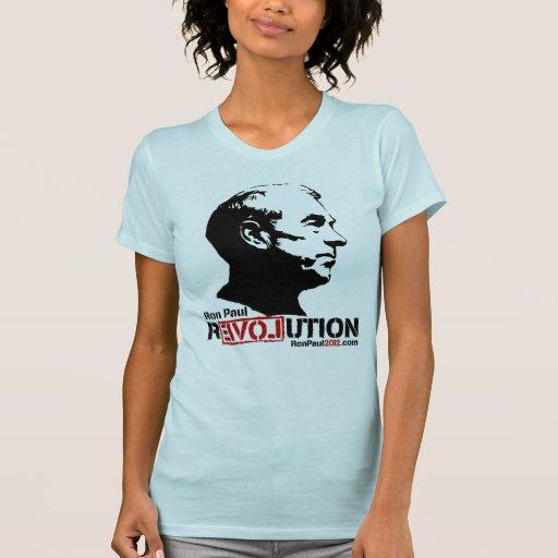 Camiseta 2012 de la revolución de Ron Paul Polera