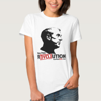 Camiseta 2012 de la revolución de Ron Paul Remeras