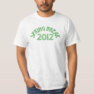 Camiseta 2012 de las vacaciones de primavera playera