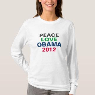 Camiseta 2012 de OBAMA del amor de la paz