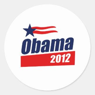 Camiseta 2012 de Obama Pegatinas Redondas