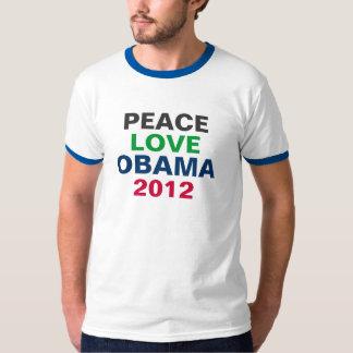 Camiseta 2012 del campanero de OBAMA del amor de