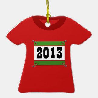 Camiseta 2013 y babero corrientes ornamentos de navidad
