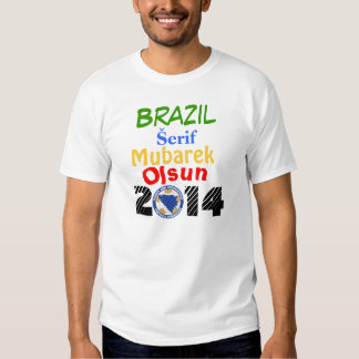 Camiseta 2014 de Bosnia el Brasil Remera