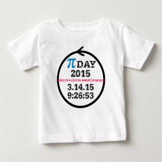Camiseta 2015 del bebé del día del pi playeras