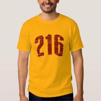 (camiseta 216 del código de área) camisas