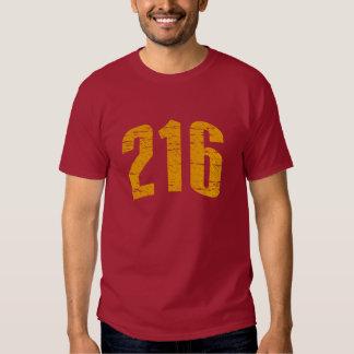 (camiseta 216 del código de área) polera