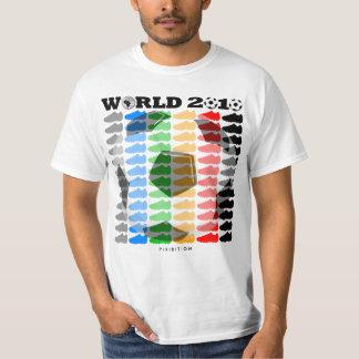 Camiseta 2 de los zapatos del color del mundial polera