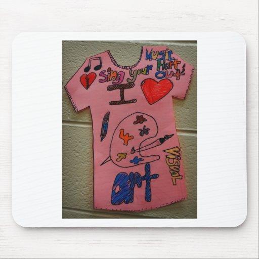 camiseta 2 del dibujo del niño tapetes de ratones