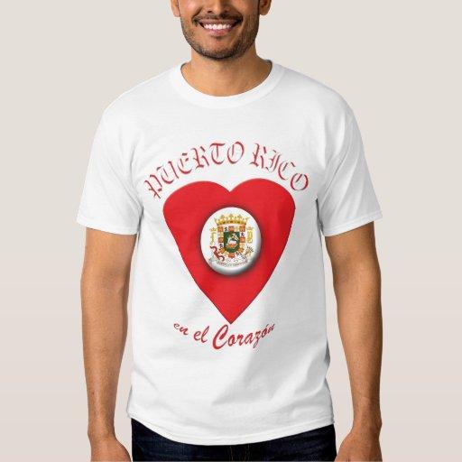 Camiseta 2 del EL Corazón del en de Puerto Rico Playeras