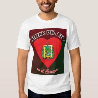 Camiseta 2 del EL Corazón del en del Pinar del Rio Playeras