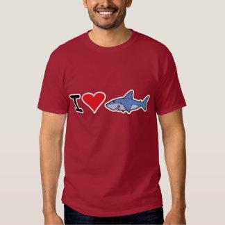 Camiseta 2 del shaaark del corazón I Poleras
