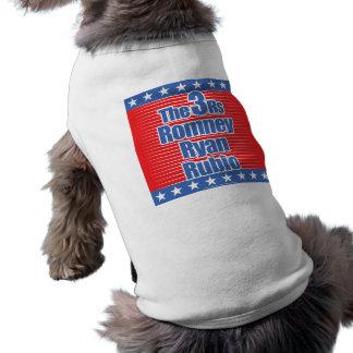 camiseta 3Rs para los perros Playera Sin Mangas Para Perro