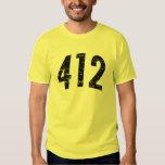 (camiseta 412 del código de área) playeras