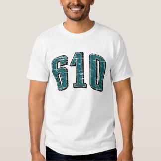 (camiseta 610 del código de área) remeras