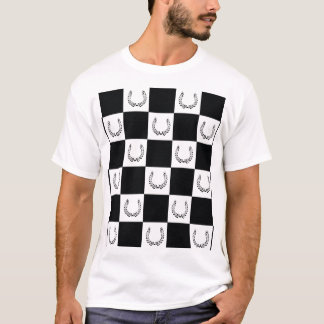 Camiseta a cuadros del logotipo del cártel