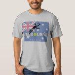 Camiseta abierta del vintage de Melbourne del Polera