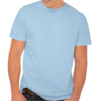 Camiseta abstracta azul del arte de la explosión d