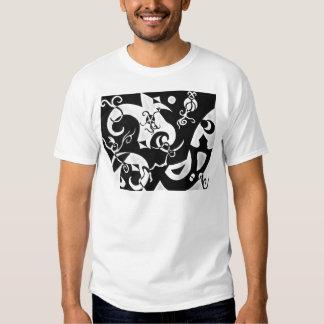 Camiseta abstracta de la impresión de las formas remera