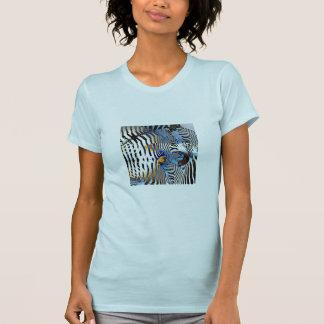 Camiseta abstracta del modelo de la cebra playeras