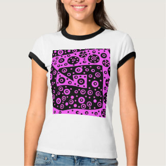 Camiseta abstracta rosada