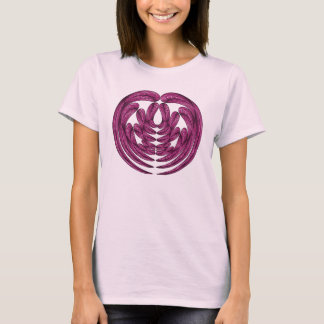 Camiseta abstracta rosada del diseño