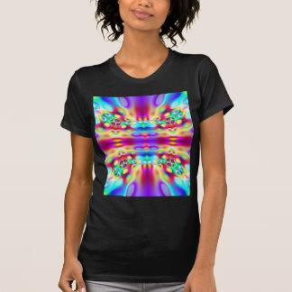 Camiseta abstracta viva del fractal de la
