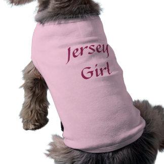 Camiseta acanalada del perro del chica del jersey playera sin mangas para perro