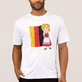 Camiseta activa para hombre del chica de
