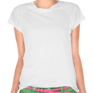 Camiseta activa para mujer de la cámara retra del