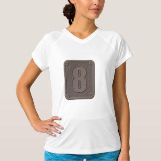Camiseta activa para mujer del metal ocho