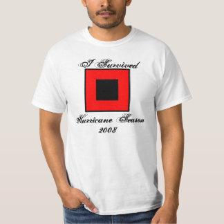 Camiseta adaptable 2008 de la estación del huracán playera