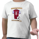 Camiseta adaptable de la camisa del fútbol (claret