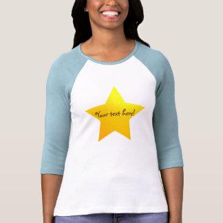 Camiseta adaptable de la estrella del oro